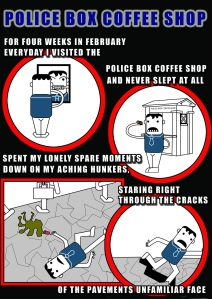 Police Box Coffee Shop-page1 - Comic Book Poem