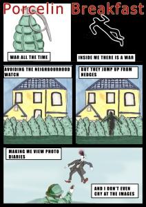 PorcelinBreakfast - page 1 - Comic Book Poem