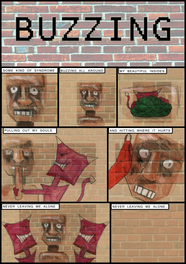 Buzzing - Comic Book Poem