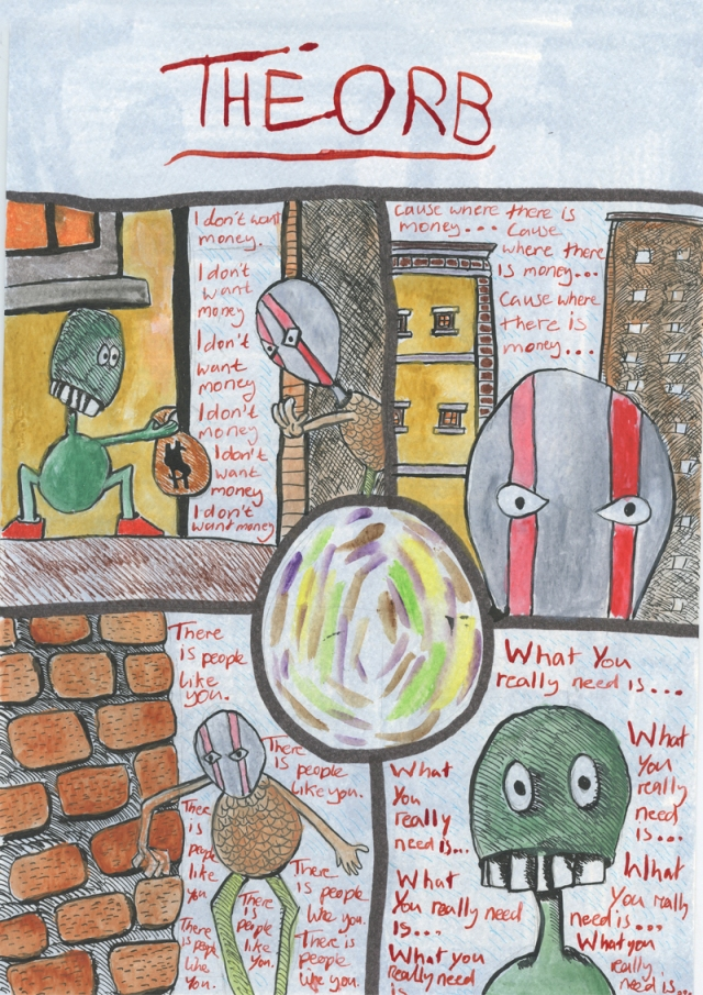 TheOrb - Page1- Comic Book Poem