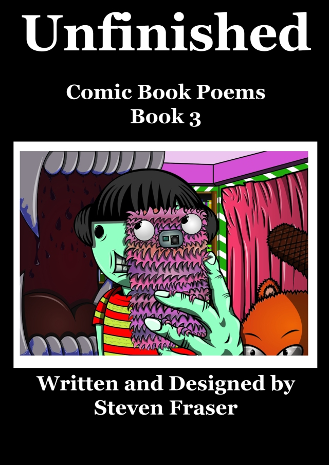 Poetry Book Front Cover ~ Comic book poems series unfinished front cover
